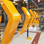 Agricultural fender powder coated yellow