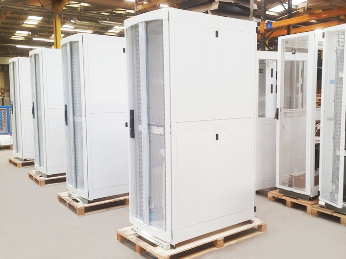 Server cabinets powder coat finish - Atlas coatings