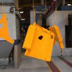 Yellow paint finish - Atlas powder coatings