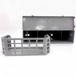 grey powder coated storage units