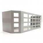 Grey powder coated metal storage