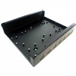 Black powder coated electrical enclosure