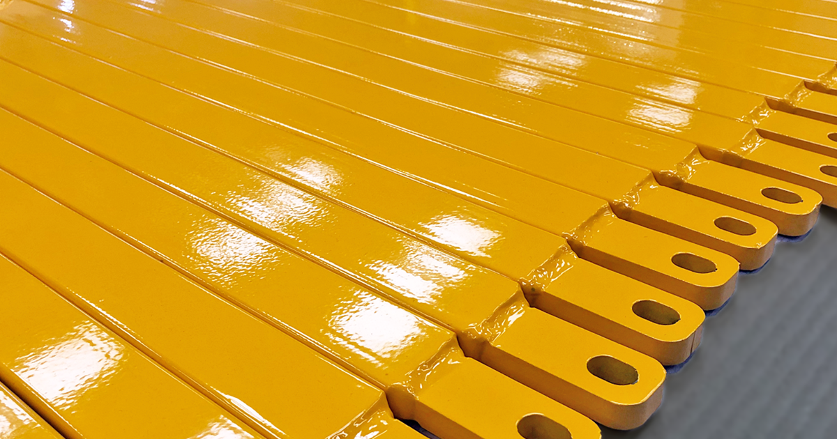 High spec yellow powder coating